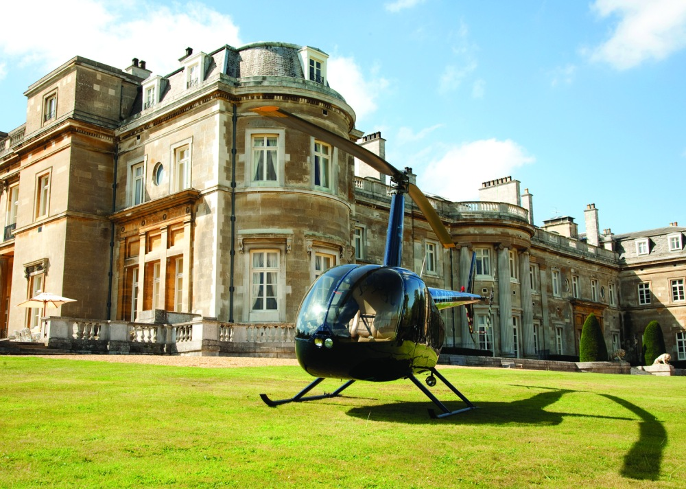 Mansion House Helicopter Eagle Lawn 2